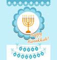 happy hanukkah greeting card flyer poster vector image vector image