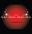 heart beats vector image vector image