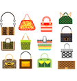 Leather handbags vector image vector image