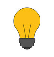 light bulb isolated icon vector image vector image