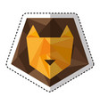 lion low poly style vector image vector image