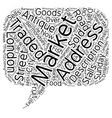 London s Markets text background wordcloud concept vector image vector image