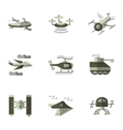 Military drones flat icons set vector image vector image