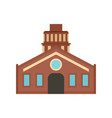old retro house icon flat style vector image