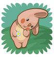 pink bunny vector image vector image