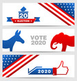 presidential election 0f usa 2020 vote voting vector image