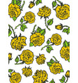 rain of yellow roses sketch engraving style vector image