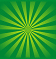 retro ray background with lines of green color vector image vector image
