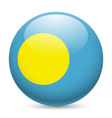 Round glossy icon of palau vector image vector image