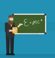 school teacher shows on blackboard flat design vector image