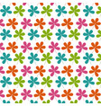 seamless pattern colored cute flowers natural vector image