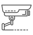 security camera icon outline style vector image