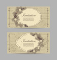 set horizontal banners merry christmas and new vector image