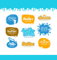 set label for milk butter and cheese vector image vector image