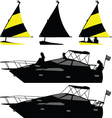 ship and yacht vector image