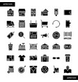 shopping and ecommerce solid icons set vector image vector image