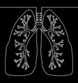 single continuous line human lungs smoking concept vector image