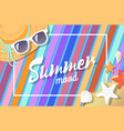 summer mood bright card color vector image vector image