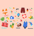 summer stickers and posters vector image