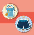 summer time beach vector image vector image
