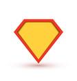 superhero badge logo super hero shield man vector image vector image