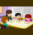 teacher and student in classroom vector image