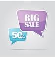 text bubble SALE vector image vector image