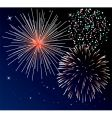 three types of fireworks vector image vector image