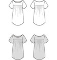 tunic vector image vector image