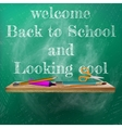 Welcome back to school template design plus EPS10 vector image vector image
