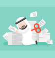 wind up arab businessman end of energy and stop vector image vector image