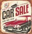 Car sale vector image