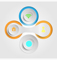 button icons advanced technology vector image