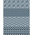 metal texture seamless patterns vector image