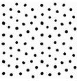 Hand drawn small polka dots vector image