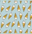 icecream seamless pattern hand drawn retro style vector image