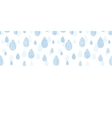 Abstract textile blue rain drops horizontal vector image vector image