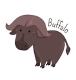 African buffalo Child fun pattern icon vector image