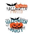 Amazing happy Halloween party invitation vector image vector image