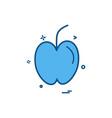 apple fruit study icon design vector image vector image