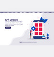 application update app developer concept with vector image vector image