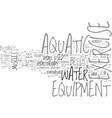 aquatic day trips text word cloud concept vector image vector image