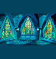ballroom or gothic palace night vector image vector image