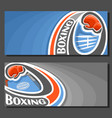 banners for boxing vector image