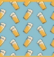 beer glass seamless pattern hand drawn retro vector image