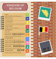 Belgium infographics statistical data sights vector image