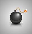 black bomb icon vector image