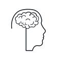 brain male head silhouette idea icon vector image