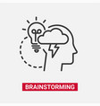 brainstorming - modern line design single vector image