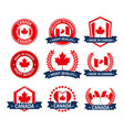 canada quality seals set icon vector image